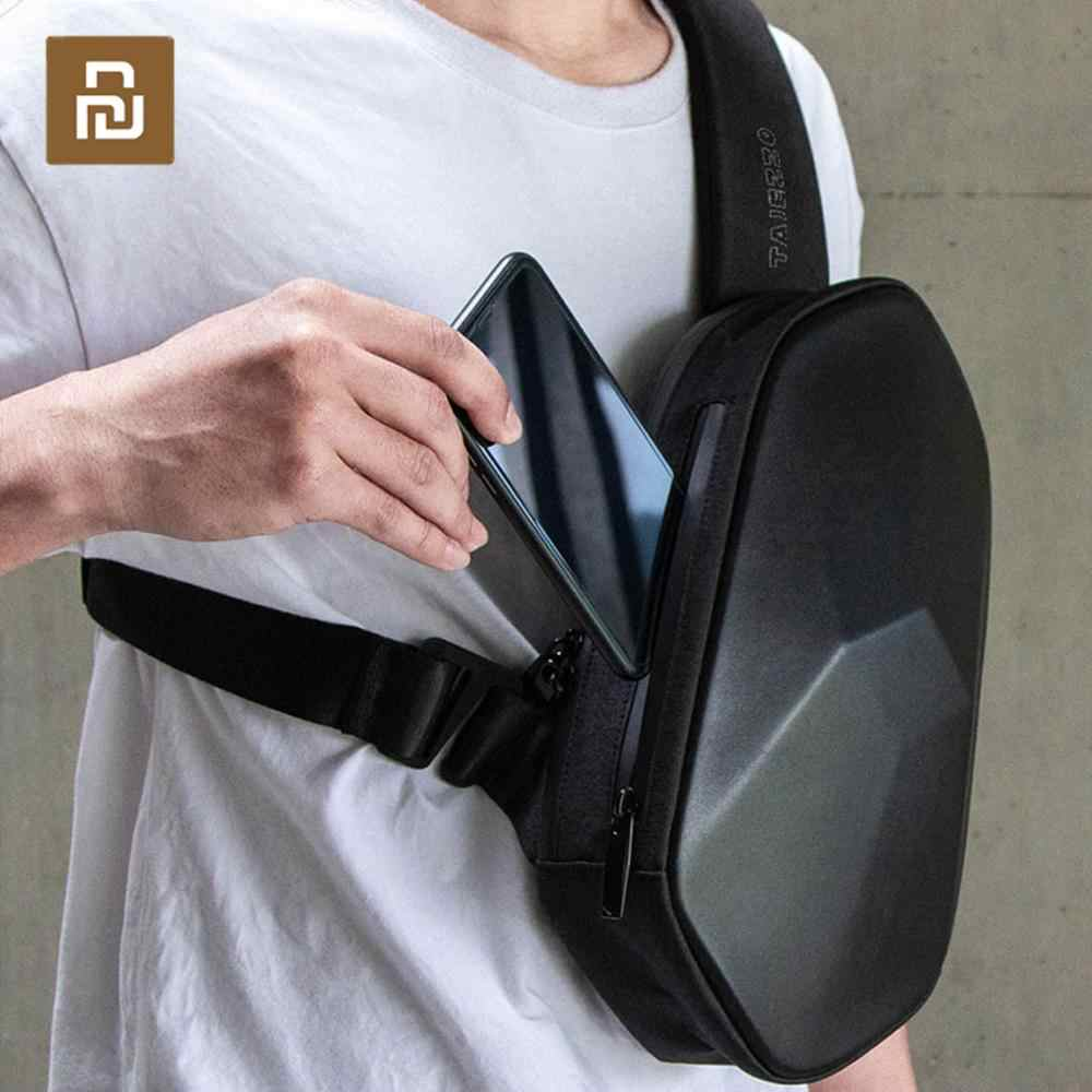 Youpin tajezzo polyhedron plutônio mochila usb saco à prova dwaterproof água colorido lazer esportes peito pacote sacos para homens mulher viagem acampamento