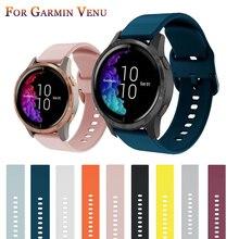 Silicone Watchband Strap for Garmin Venu/GarminMove 3 Luxe Style/Vivoactive 3 Band Smart Watch Bracelet Sport Wristband Correa