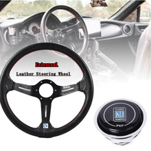 Steering-Wheel Horn Button Universal Flat 350mm with Automobile Classic 14--Inch
