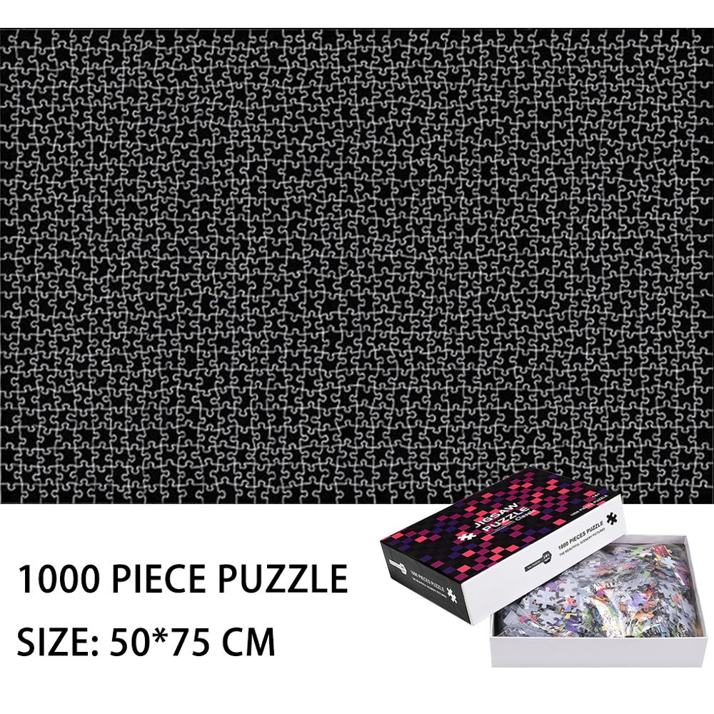 1000 Piece Black Jigsaw Puzzle Pure Black Creative Jigsaw Puzzle Creativity Imagine Toys Magic Puzzles Patience Toys