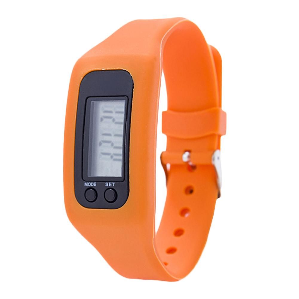 Kids Digital Pedometer Run Step Walking Distance Calorie Counter Bracelet Watch Silicone Acrylic Pin Buckle Unisex Kids Digital