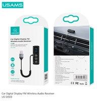 USAMS FM Transmitter Car Bluetooth 5.0 FM Radio Modulator Car Kit 5V USB Car Charger Handsfree Wireless Aux Audio MP3 Player Kit
