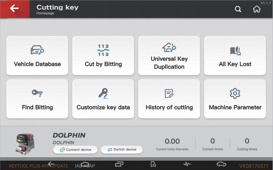 xhorse key tool plus cutting key