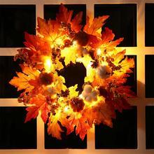Hanging-Ornaments Wreath Door Halloween-Wreath Christmas-Decoration Window Party Autumn