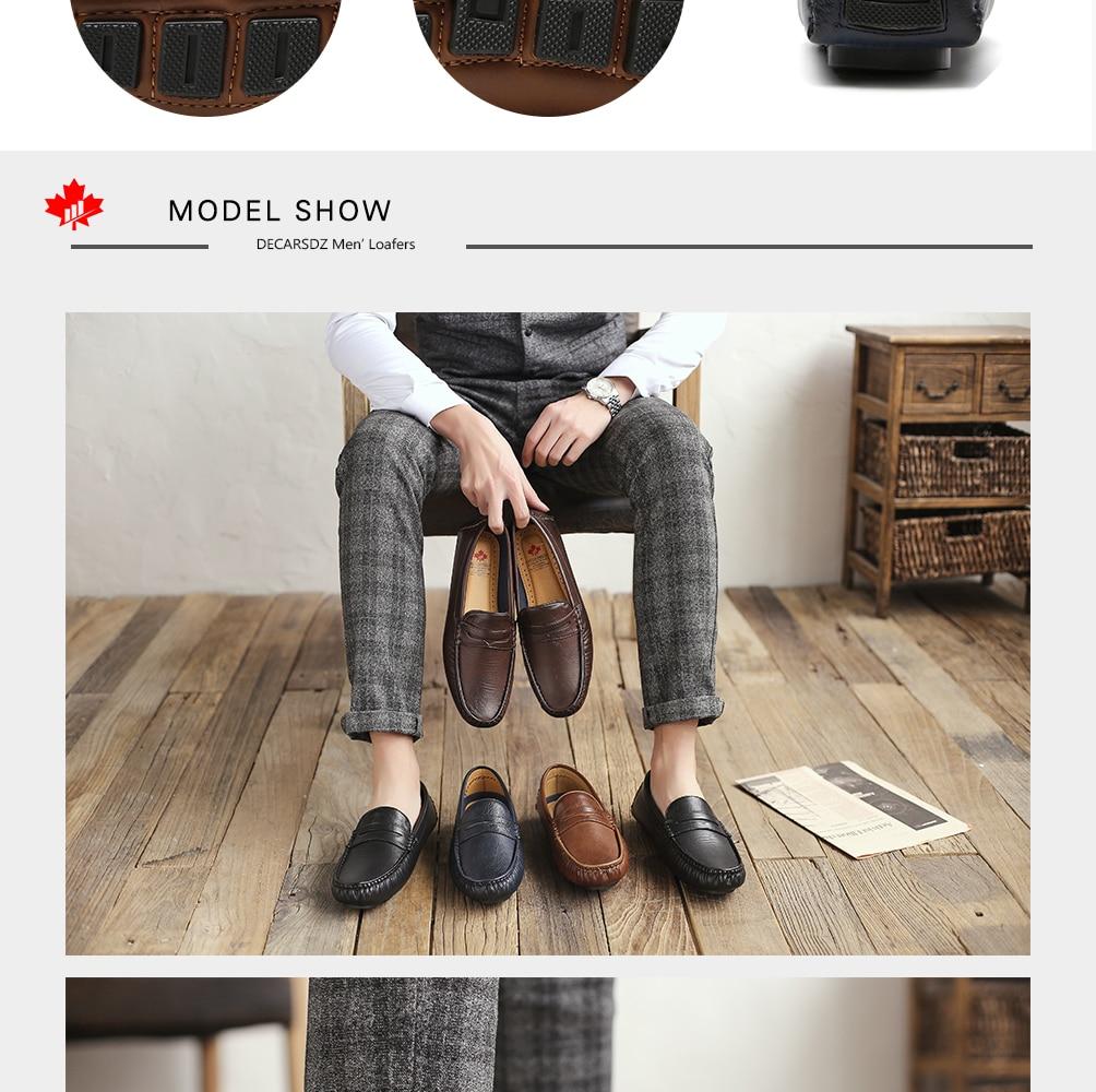 H32c7fe9217d346cfb841661575ea83d81 Men's Casual Shoes Men Moccasins Autumn Fashion Driving Boat Shoes Male Leather Brand Slip-On Classic Men's shoes Loafers