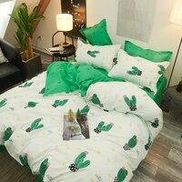 Lenzuolo Cactus verde federa Set copripiumino Set biancheria da letto moderno autunno Queen King Size copripiumini per bambini biancheria da letto per adulti
