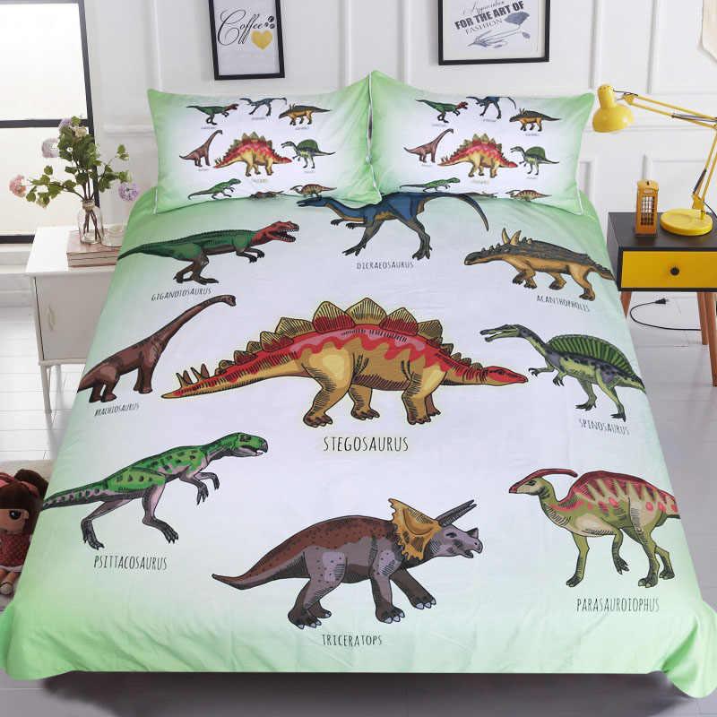 3pcs Bedding Sets New Design 3d Cute Kids Dinosaur Printing Bedclothes Home Decor Comforter Pillowcases Bedding Sets Aliexpress
