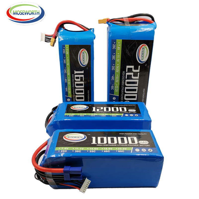 7.4V 11.1V 14.8V 18.5V 22.2V RC <font><b>LiPo</b></font> Battery 10000 12000 16000 <font><b>22000mAh</b></font> 2S3S4S5S6S 25C 35C RC Quadcopter Airplane Aircraft Drone image