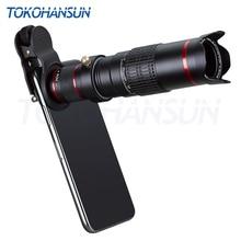 Tokohansun lente da câmera do telefone óptico 22x telescópio telefoto lente monocular para iphone x 7 8 plus xiaomi htc outro smartphone 22x