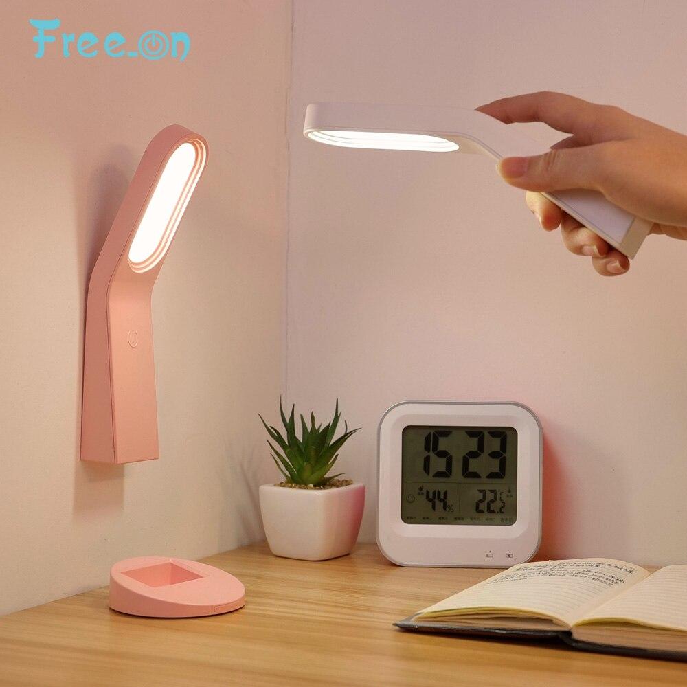 Lámpara de escritorio multifunción USB, lámpara de lectura recargable, lámpara de mesa con ajuste de atenuación táctil LED para niños, lámpara de lectura, cabecera