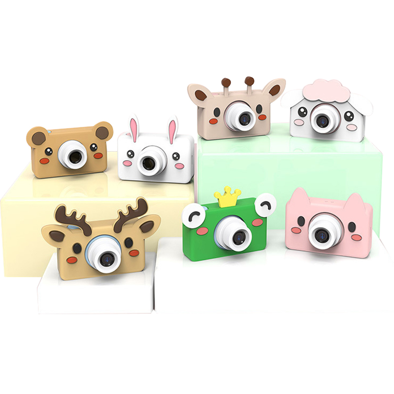 24.0 MP HD Mini Kid Camera Cartoon Digital Video Camcorder For Children Rechargeable Timed Shooting Camera Toy Kids Gifts