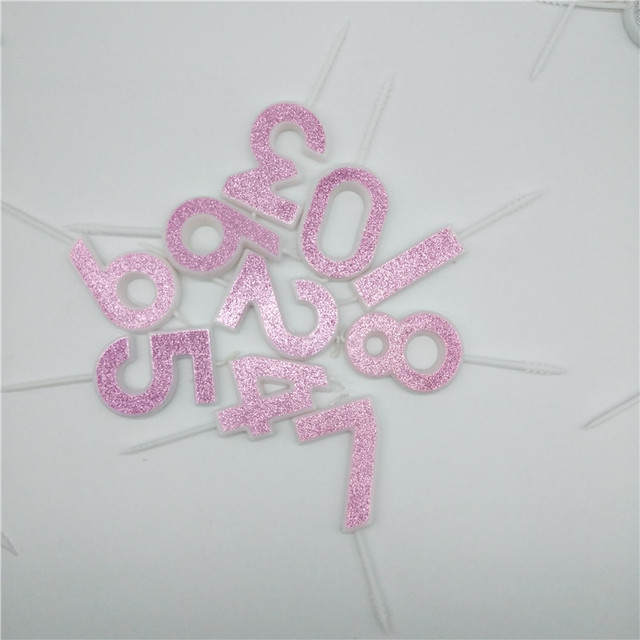 番号 0 1 2 3 4 5 6 7 8 9 クリエイティブピンクのキャンドルキッズボーイズガールズハッピーバースデーケーキトッパーパーティーケーキの装飾