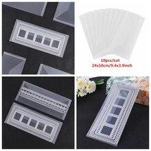 Slimline Morre Pokets Armazenamento 10 Plastiv Pçs/set PVC Folha Transparente Grandes Bolsos De Armazenamento Para Matrizes Selos Coleção 10x24cm