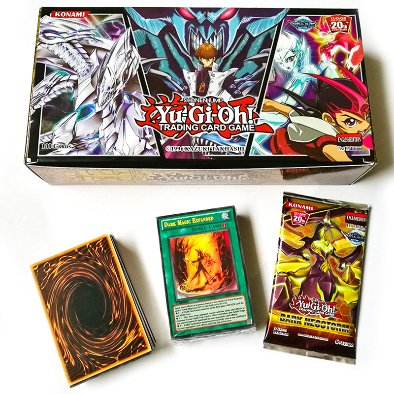 Yu Gi Oh Board Game Duel Flash 100 Cards TCG English No Repeat Yugioh Battle Table Shining Card OCG Deck Children Christmas Gift