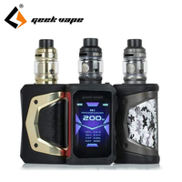 Original Geekvape Aegis X Zeus Kit Electronic Cigarette 200W Box Mod with 5ml Zeus Sub ohm Tank Vaporizer VAPE Kit