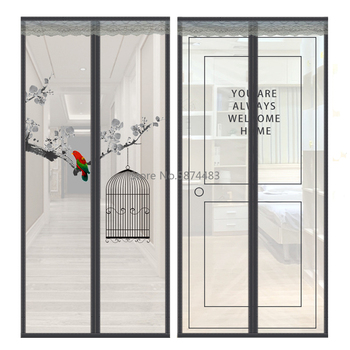 Velcro Magnetic Screen Door Net Anti Insect Mesh Fly Screen Mosquito Protection Net Magnet Curtains for Doors Windows Screen tanie i dobre opinie CN (pochodzenie) Hook Loop Zapięcie NYLON