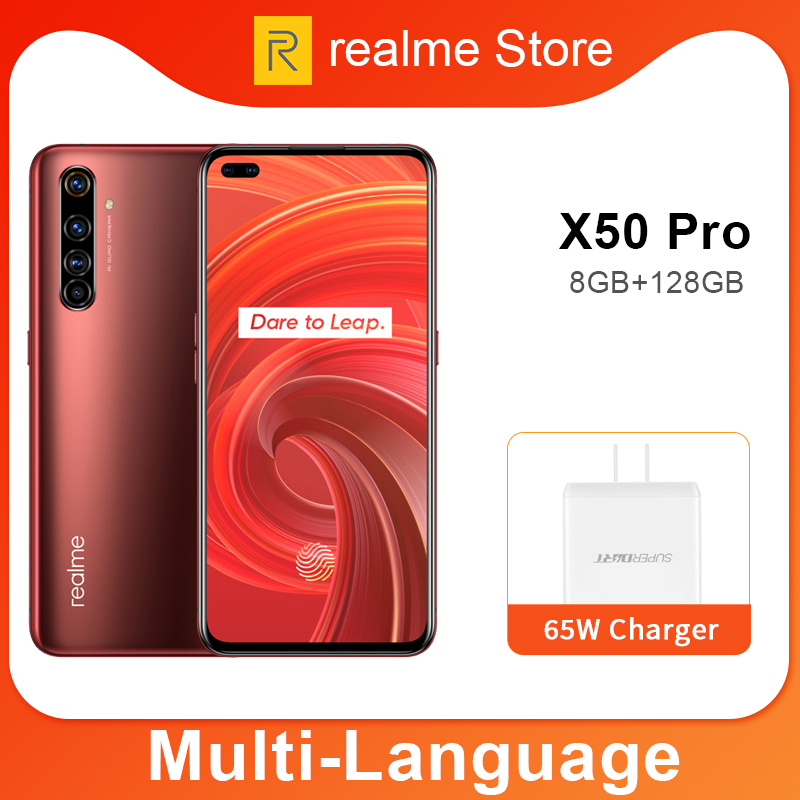 Realme X50 Pro X50 5G 8GB 128GB 5.44 90Hz SuperAmoled Screen Moblie Phone Snapdragon 865 Cellphone 65W Superdart Charge