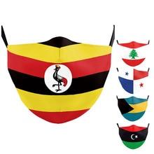 Face-Mask Flag Bahamas-Print-Masks Uganda Washable Adult Fashion Lebanon Panama Outdoor