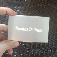 Бесплатный персонализированный подарок для босса держатель визиток