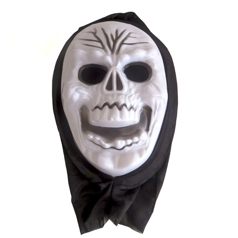 Horror Halloween Mask Death Scream Halloween Cosmetic Ball Party Plastic White Ghost Face