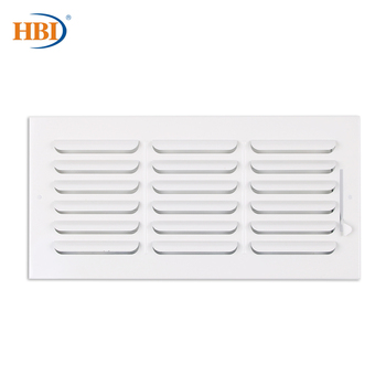 HBI 1-Way W14 x H6 Curved-Blade Ventilation Grille Air Outlet Valve Air Supply Register Air Vent Cover Steel Ceiling/Sidewall curved air curved air airborne cd digisleeve