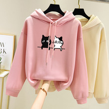 Candy Color Womens Hoody Long Sleeve Autumn Winter Hoodies Sweatshirt Oversize Hooded Pullover  Female Tops Sweatshirts