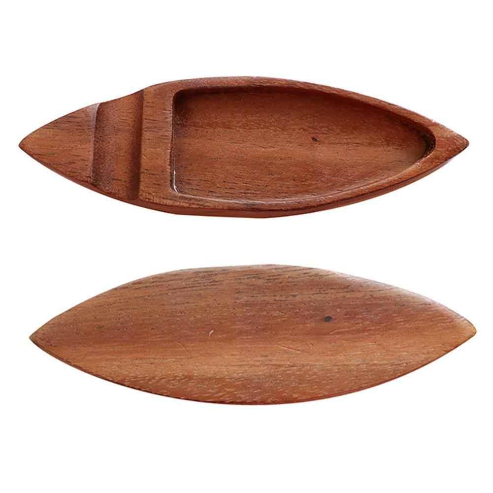 日本の木製醤油皿レトロデュアル使用箸ホルダー小さな木製クラフト皿醤油トレイプレートキッチンツール
