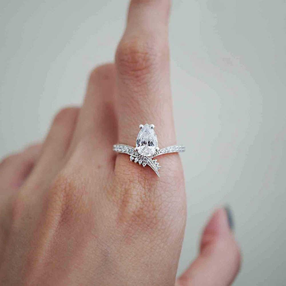 1PCS Nuovo Disegno di Vendita Al Dettaglio di Alta Qualità Della Ragazza del Regalo 925 sterling silver Argento Princess Crown Zircon 925 sterling silver Ring