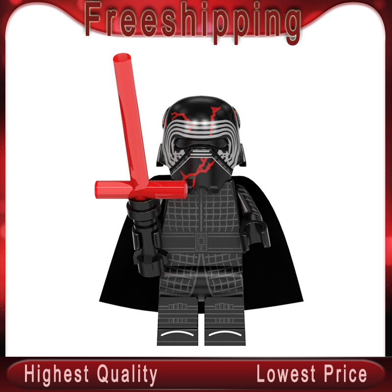 WM889 Kylos Ren Legoinglys Stars Wars MinifigurINED Poe Leias Dark Chewbaccaed Rey Palpatined Bricks Blocks Children Toys Gift