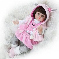 NPK bebes reborn doll 48cm Coat Rabbit Coat Lifelike Silicone Accompany Toy Christmas surprise gifts lol doll girls gift New