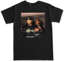 T-shirt homme en coton, Streetwear, drôle 2 Pac Tupac Boxing legend Mike Shakur Dr Dre La Trap Hip Hop Rap