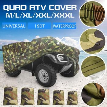 Dropshipping All Size Universal 190T Camouflage Waterproof Motorcycle Cover Quad ATV Vehicle Scooter Motorbike Cover Protector