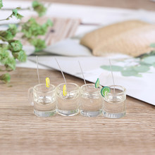 New 1:12 Resin Dollhouse Mini Lemon Water Cup Miniature Dollhouse Furniture Accessories Cups Toy Mini Decoration Gifts 2Pcs(China)