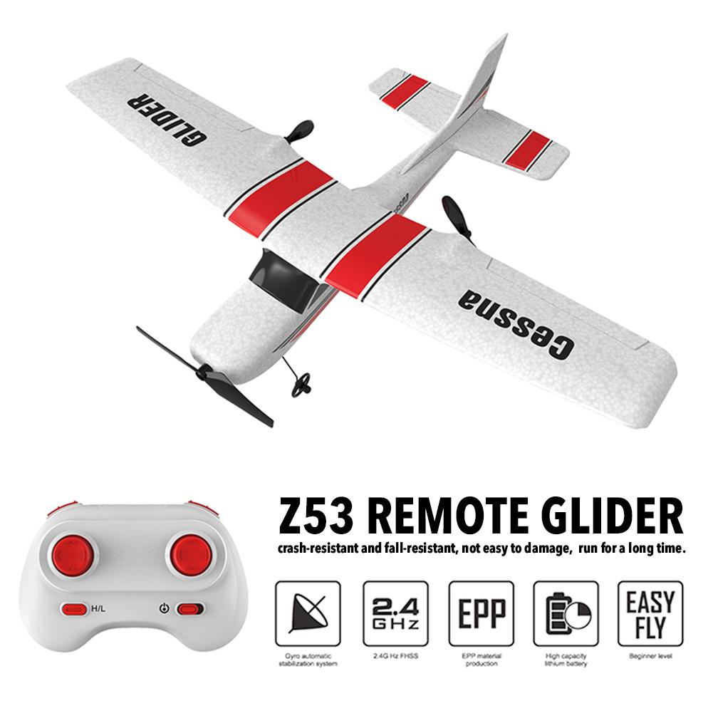 182T 2.4Ghz 2CH Z53 RC Airplane Flying Aircraft EPP Foam Glider Toy Airplane 25 Minutes Fligt Time Foam Plane Toys Kids Gift image