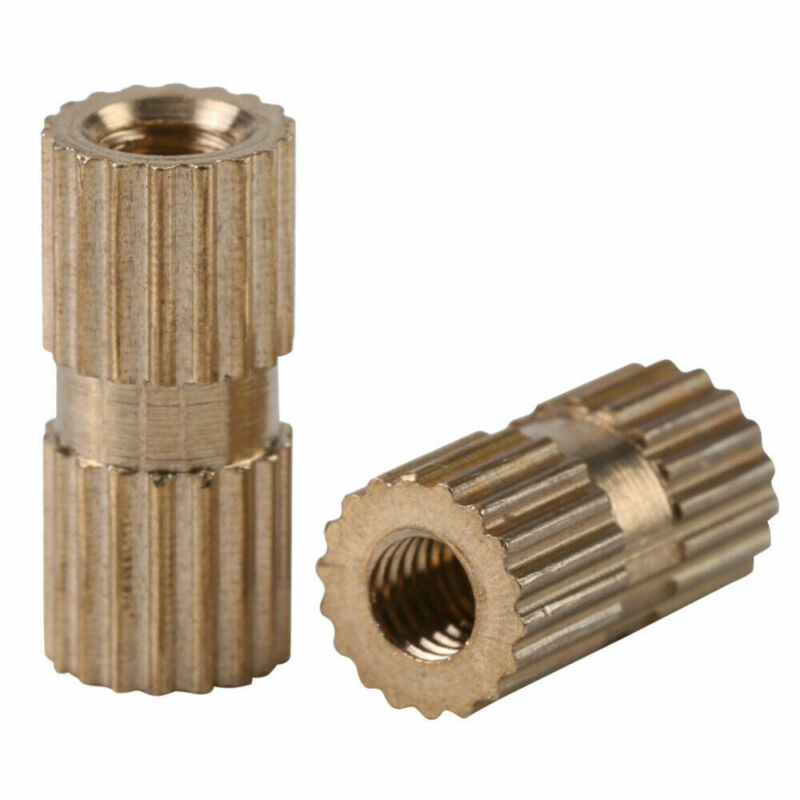 150pcs/Set M3 Brass Threaded Heat Insert Plastic 3D Printing Metal Nut Supplies Knurled Nuts Kits Accessories