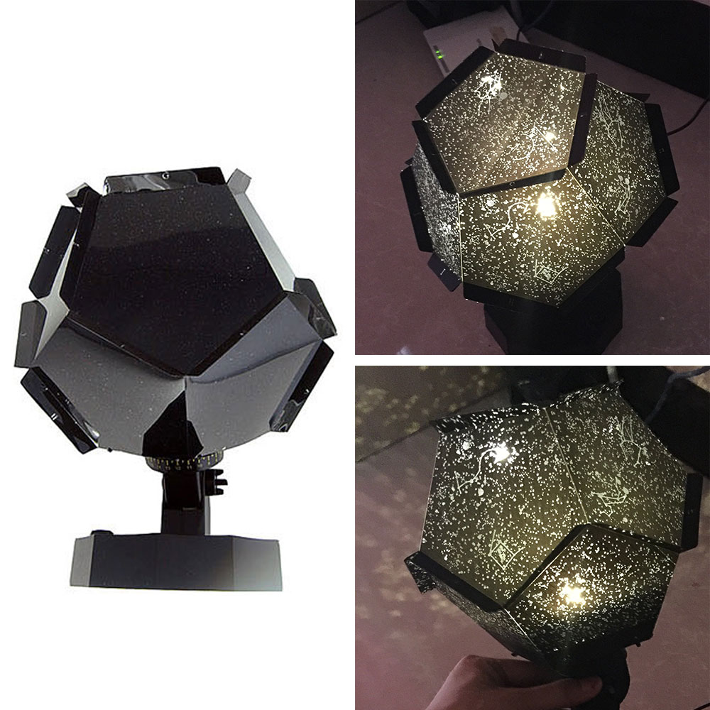Romantic Home Planetarium Star Night Light Magic Projector Light Flashing Star Lamp For Room Home Decoration Christmas Gift