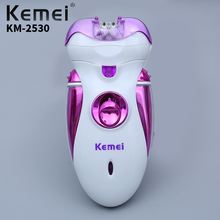 Kemei Multi-Function Rechargeable Electric Ladies High Quality Razor Beauty Care Tools Female
