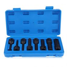 8 sztuk 1 2 #8222 Cal napęd Allen klucz sześciokątny Bit ZESTAW GNIAZD H5-H19 samochód narzędzie do naprawy tanie tanio VGEBY CN (pochodzenie) Silnik opieki