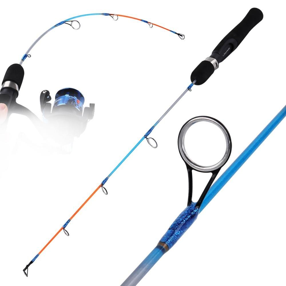 Sougayilang Winter Shrimp Ice Fishing Rod Pole Portable Winter Fishing Rods Spinning Casting Ice Winter Fishing Pole Tackle