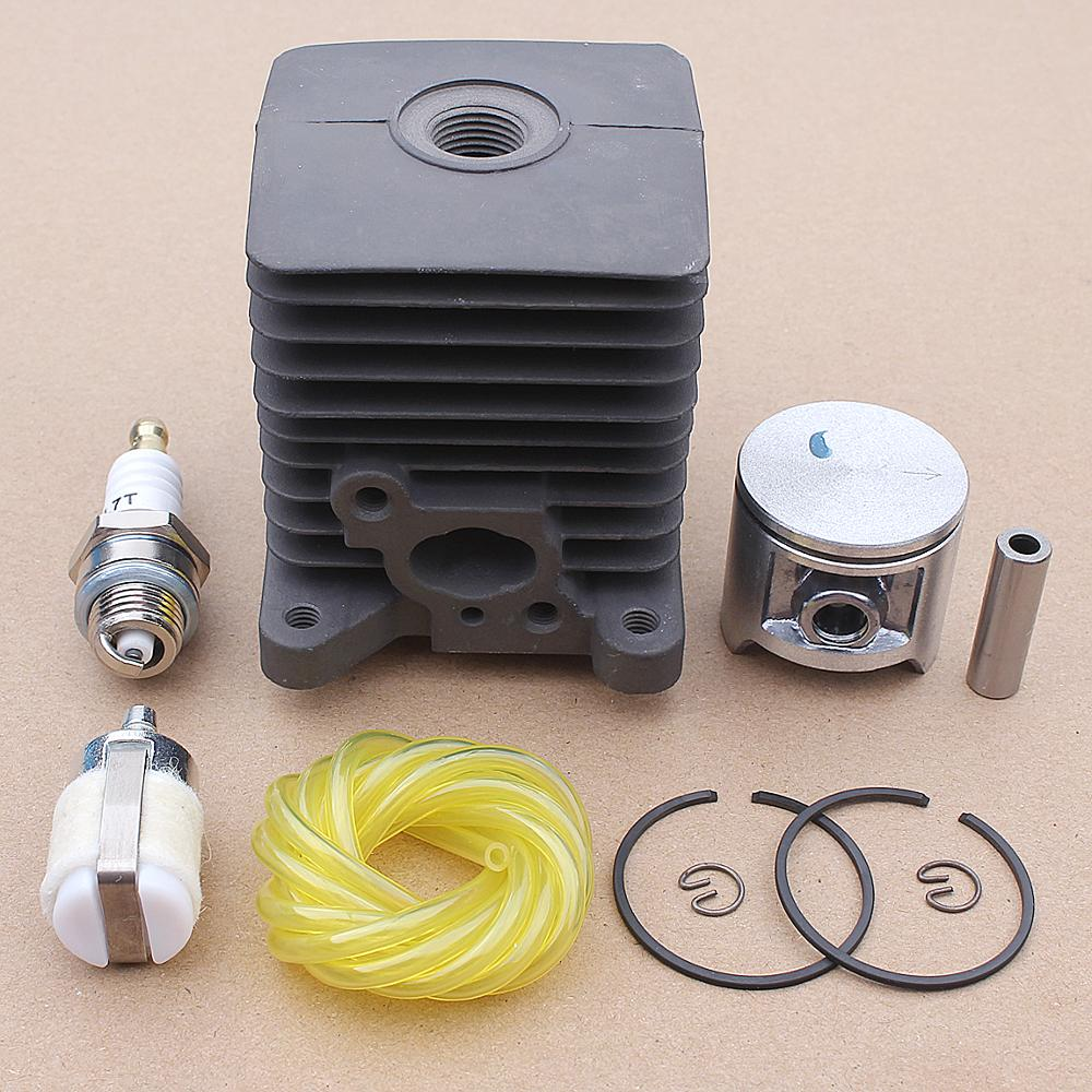 33.5MM Cylinder Piston Pin Kit For Homelite S25 25cc Trimmer Brush Cutter Fuel Line Hose Filter