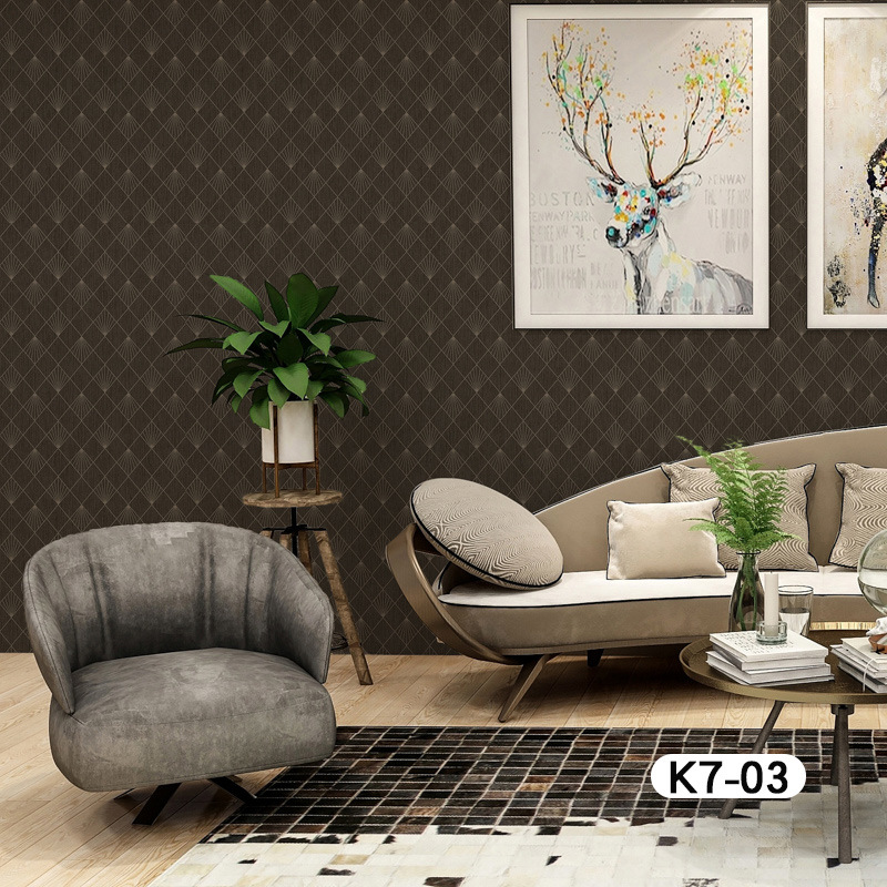 European Style Wallpaper Mural Seamless Plain Color TV Backdrop Background Cloth Modern Minimalist Style Wall Cloth Manufacturer