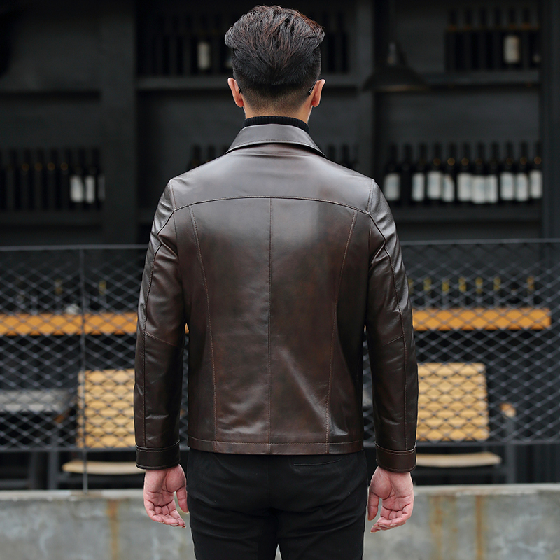 Genuine Leather Jacket Men Korean Sheepskin Coat Spring Motorcycle Jacket Leather Coats Men Chaqueta Cuero Hombre KJ1583