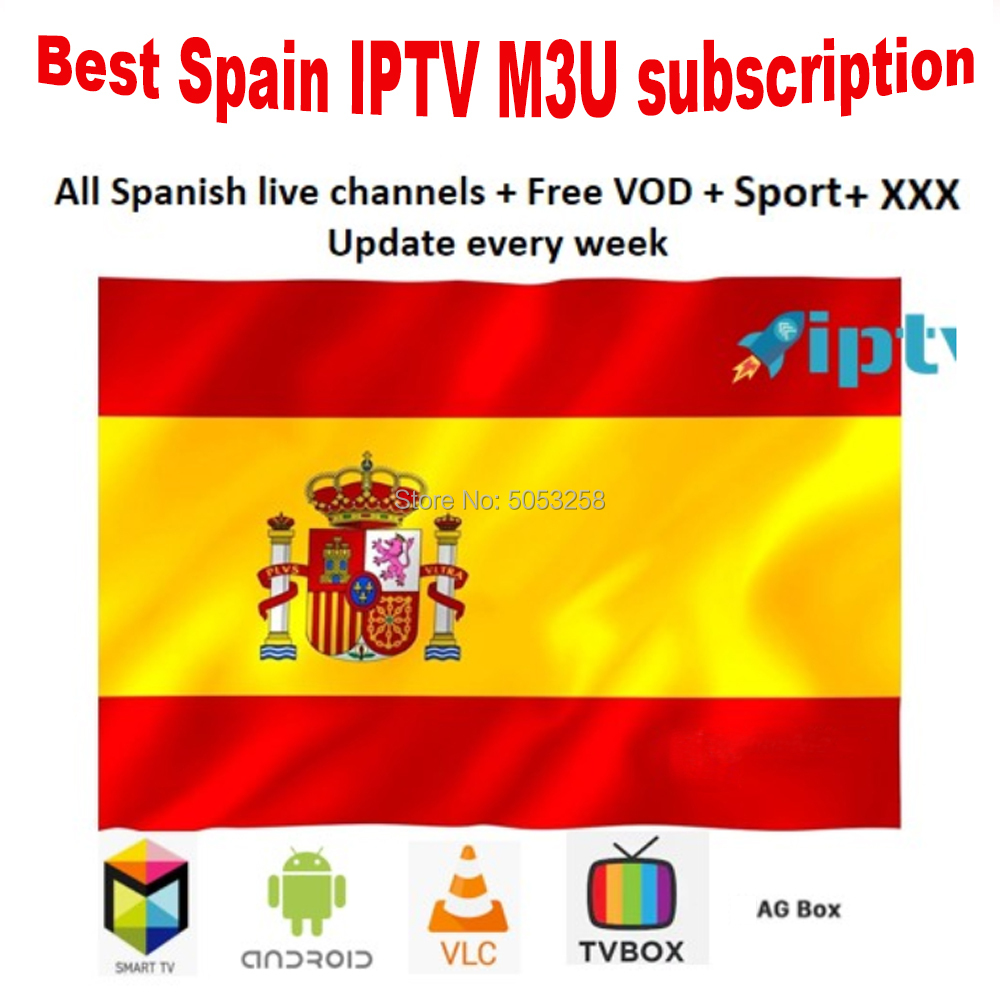 Suscripcion 12 months Spain IPTV M3U subscription Spain DAZN Movist code GSE Enigma for Android box Enigma2 smart PC Smart TV