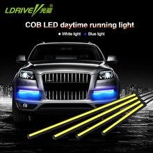 LDRIE 2 шт. 12 в 10-24 см на выбор, Светодиодная лента с откидной чипом для авто, светодиодный светильник дневного света, внешний DRL, автомобильная противотуманная фара, водонепроницаемая