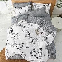 Duvet-Cover-Set Comforter Bedding Cartoon Children Home-Textile Twin Cute Soft Students