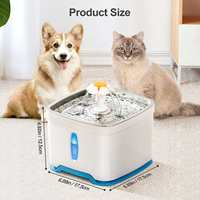 2,5 L Haustier Hund Katze Wasser Brunnen Elektrische Automatische Wasser Feeder Dispenser Container LED Wasser Ebene Display Für Hunde Katzen trinken