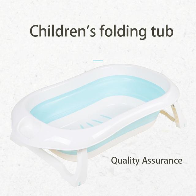 Newborn Baby Folding Bath Tub Portable Foldable Kids Washing Bathtub Folding Non-Slip Bathtub Home Multifunction Baby Product 1