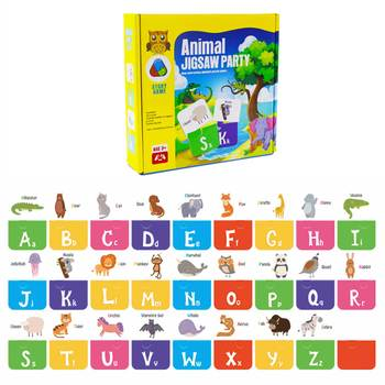 Kids Montessori Toy Baby Learn English Word Card Flashcards Cognitive Educational Animal Learning Early