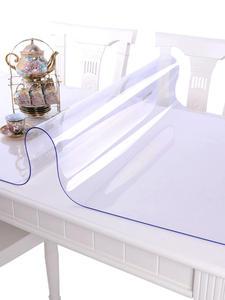 Transparent Tablecloth Soft Glass Dining Kitchen Plastic Waterproof Anti-Hot Modern PVC