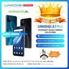 В наличии UMIDIGI A7 Pro Quad Camera Android 10 OS 6,3 FHD + полный экран 64 Гб/128 ГБ ROM LPDDR4X Восьмиядерный глобальная Версия Телефона